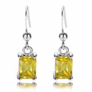 Simulated Citrine Earrings